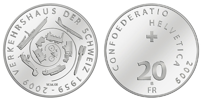 commemorative coin: 50 years of the Swiss Museum of Transport