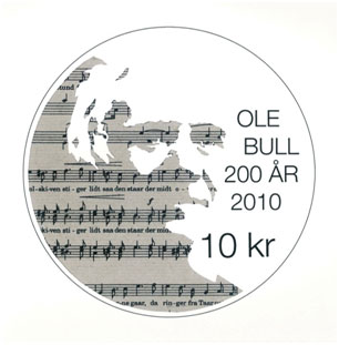 The 200th anniversary of the birth of the Norwegian violinist Ole Bull